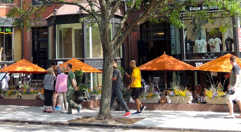 Outdoor Dining In Back Bay Boston Patio Restaurants