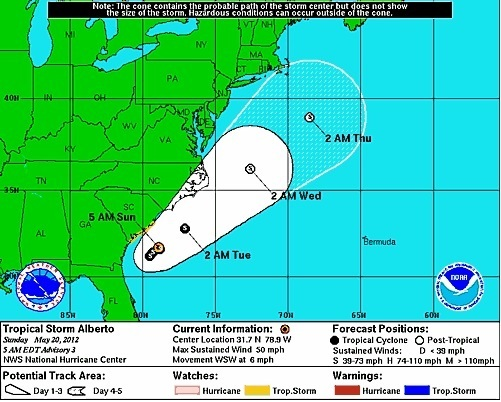 First tropical storm of season forms in Atlantic Boston