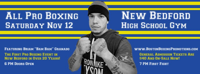 Briam Granado boxing New Bedford November 12 tickets