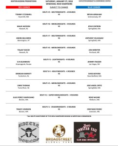 Windham NH boxing January 27 Castleton