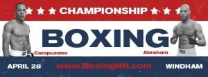 Boxing event tickets Windham NH Castleton Skowhegan ME Maine April 28