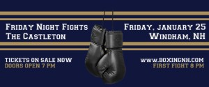Boxing Windham NH January 25 tickets event Castleton