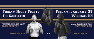 Boxing Windham NH Castleton January 25 tickets event