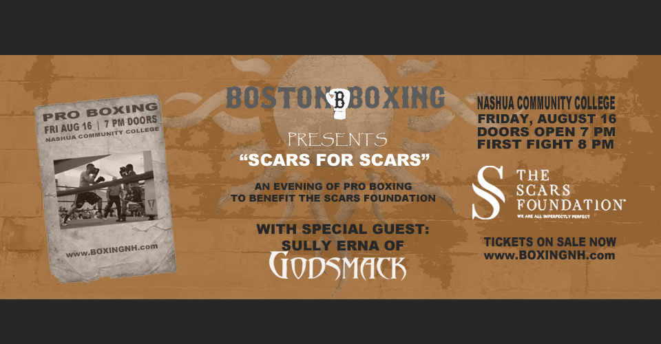 Boston Boxing Godsmack Sully Erna Nashua NH Community College tickets event August 16