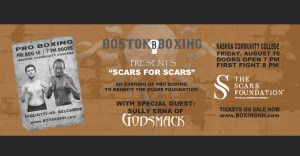 Boxing Nashua NH Sully Erna Godsmack Scars Foundation August 16 Hampton Rim Nashua Community College tickets event