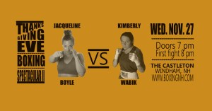 Boxing Windham NH Thanksgiving Eve Castleton tickets event