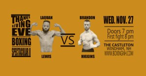 Boxing Thanksgiving Eve Windham NH tickets event
