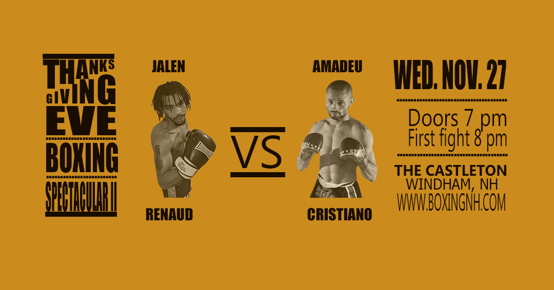 Boxing NH Windham Thanksgiving Eve tickets event November 27 Castleton
