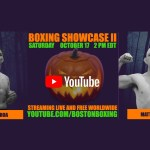 Boston Boxing Promotions Windham NH Youtube live stream October 17