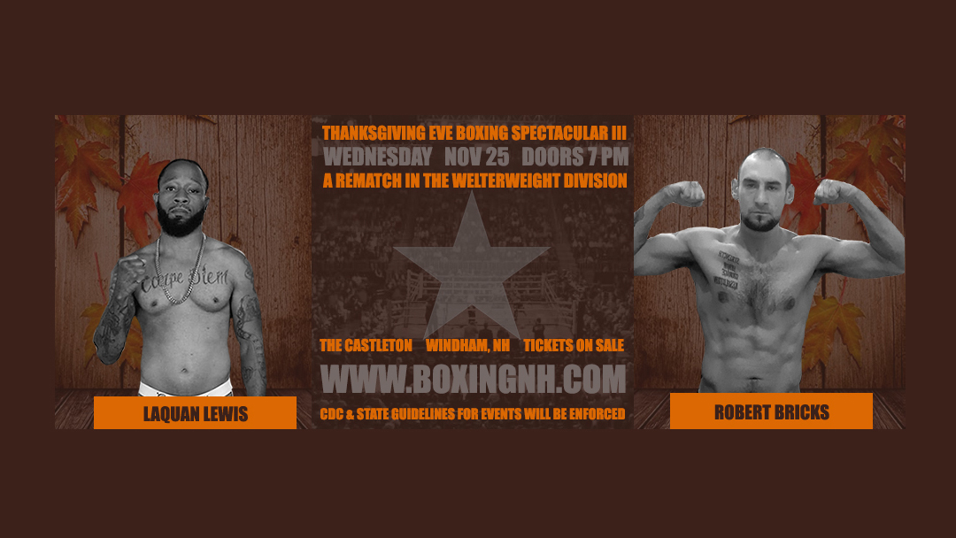 Windham NH boxing Thanksgiving Eve Castleton tickets event