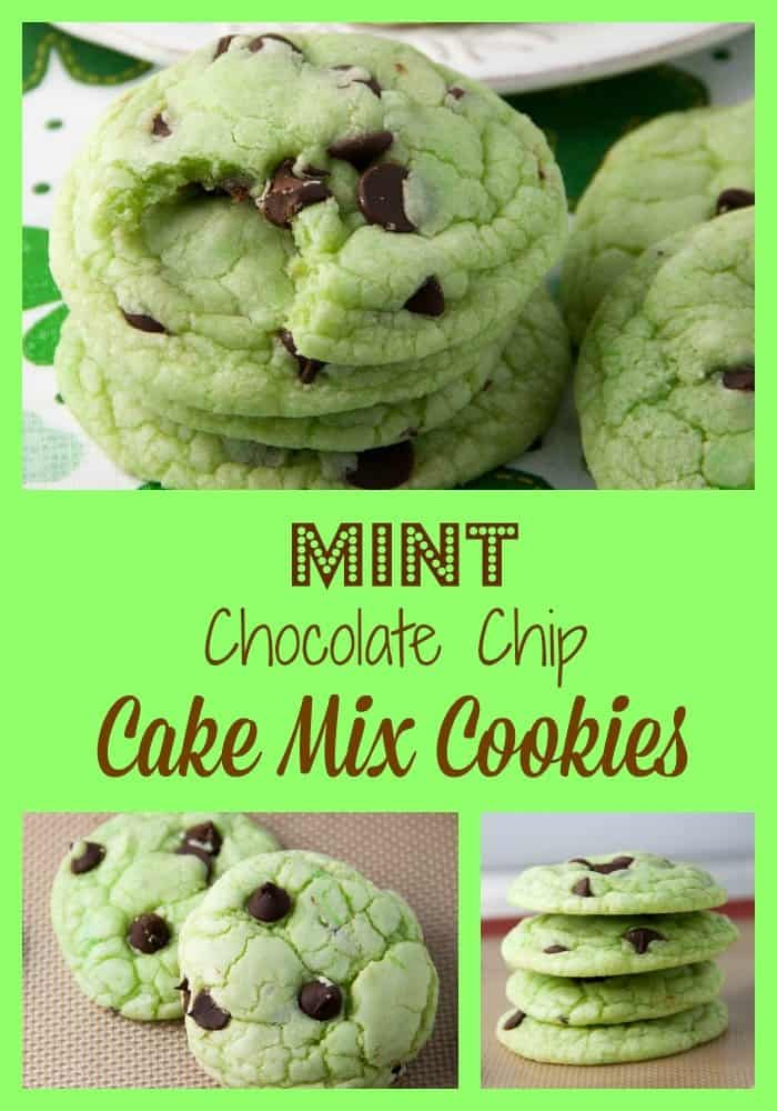 Mint Chocolate Chip Cookies From Cake Mix
