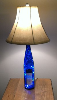 Blue Wine Bottle Lamp by Steve