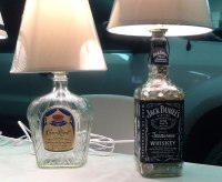 Seven different Bottle Lamps by Chuck for the DIY Show Off ...