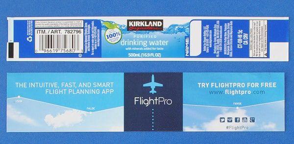 Custom Labels for Kirkland Signature Water Bottles - BottleYourBrand