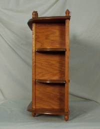 Oak Hanging Wall Mounted Curio Cabinet with Glass Door & 2 ...
