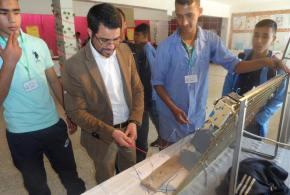 إحياء لذكرى يوم العلم أقام أساتذة وتلاميذ ثانوية محمد بوضياف ( المتقنة) ببوسعادة