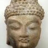 tête d'un bouddha de chine