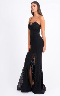 Forever Unique Dresses | Womens Alanis Black Dress ...