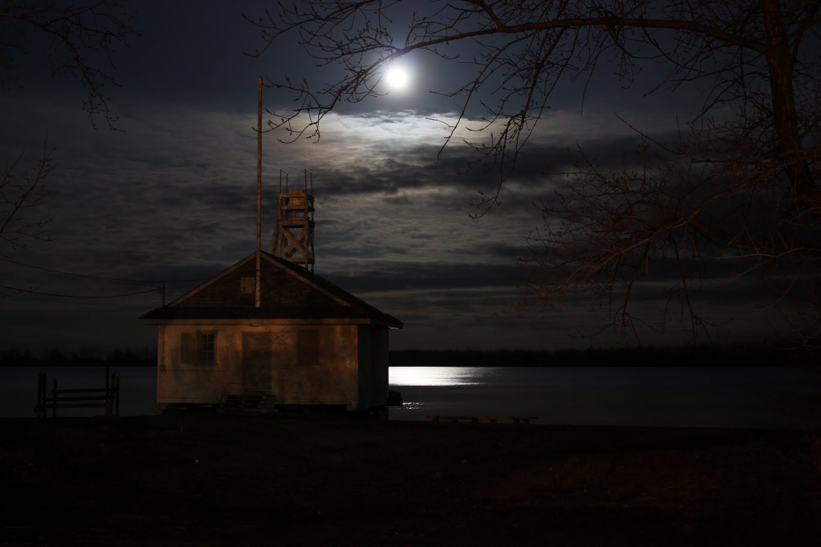 Niagara Falls At Night Wallpaper Full Moon Over Lake Ontario Bounding Over Our Steps