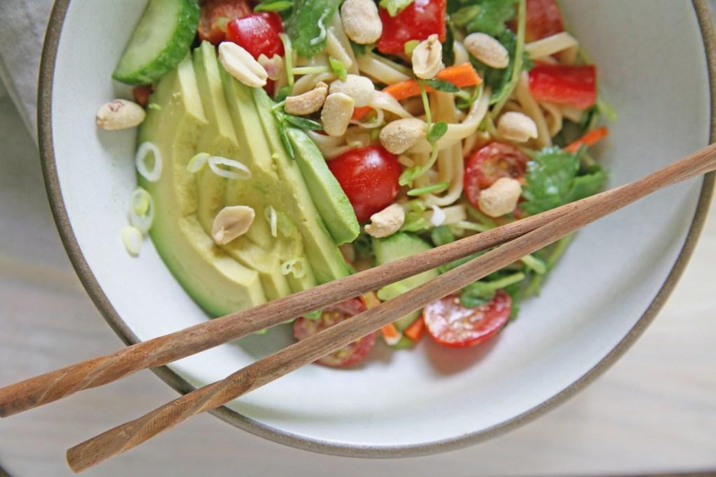 Lazy Day Peanut Noodle Salad Recipe — Dishmaps