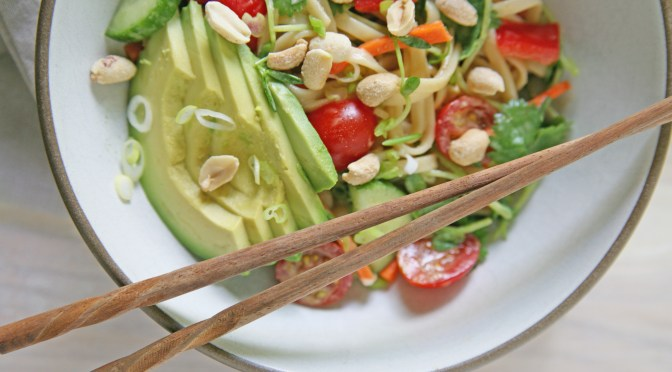 ... noodle salad healthy recipe ideas lazy day peanut noodle salad