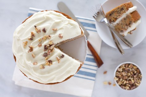 Carrot Cake with Bourbon Cream Cheese Frosting | Bourbon and Honey
