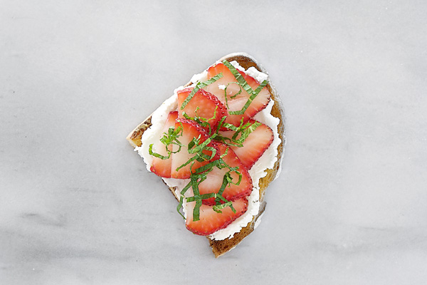 strawberry goat cheese toast sweetened goat cheese strawberry slices ...