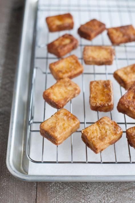 Crispy Marinated Tofu | BourbonandHoney.com -- Spicy and savory, this ...