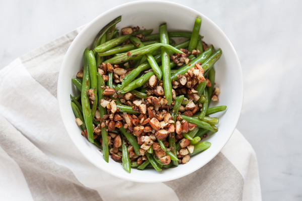 Green Beans with Almonds, Shallots and Garlic | Bourbon and Honey