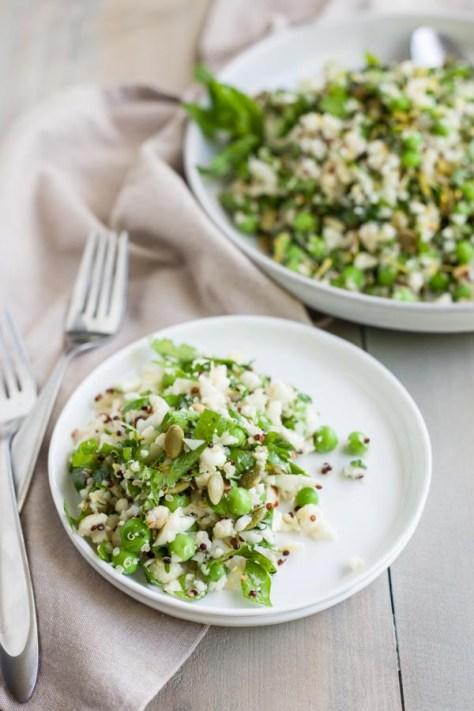 Quinoa Cauliflower Tabbouleh Salad | Bourbon and Honey