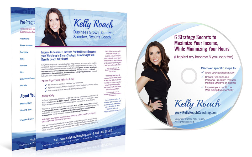 kelly-roach-speaker-one-sheetjpg (960×600) Speaker one sheets - video brochure template