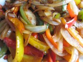 Sautéed color peppers