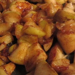 Chopped cooked apples