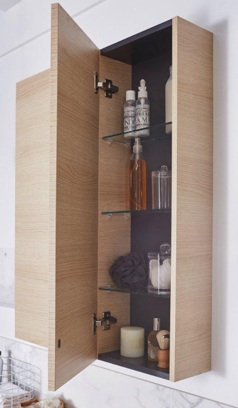 Meuble haut avec miroir pour salle de bain - Boutique-gain-de-placefr - Meuble Avec Miroir Pour Salle De Bain