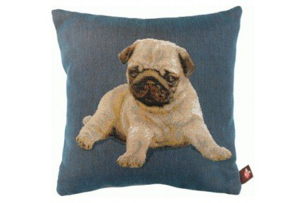 Luxury Pug Dog Puppy Decorative Tapestry Pillow