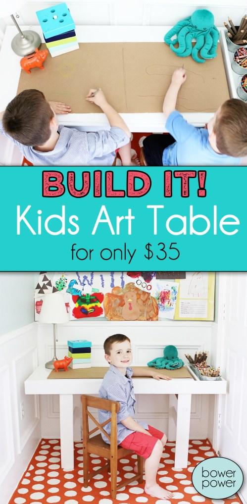 Medium Of Kids Art Table
