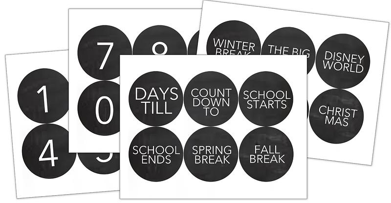 Back To School Countdown Calendar - Bower Power