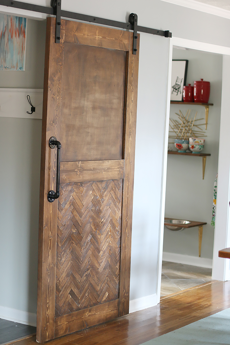 Dude i built a herringbone barn door bower power