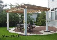 rustic pergola plans | woodideas