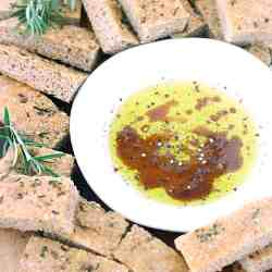 Small Of Olive Oil Bread Dip