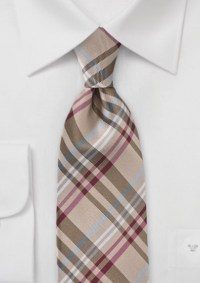 Plaid Ties in Tan, Beige, and Wheat