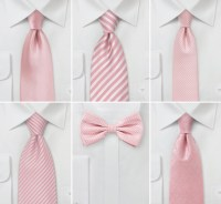 Wedding Color Inspiration for Rose Quartz | Groomsmen Ties ...
