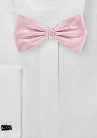 Solid Pink Bow Tie with Stripes | Bows-N-Ties.com