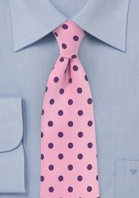 Salmon Pink Tie with Purple Dots | Bows-N-Ties.com