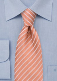 Extra Long Salmon Pink Tie | Bows-N-Ties.com