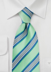 Mint Green and Navy Necktie | Bows-N-Ties.com