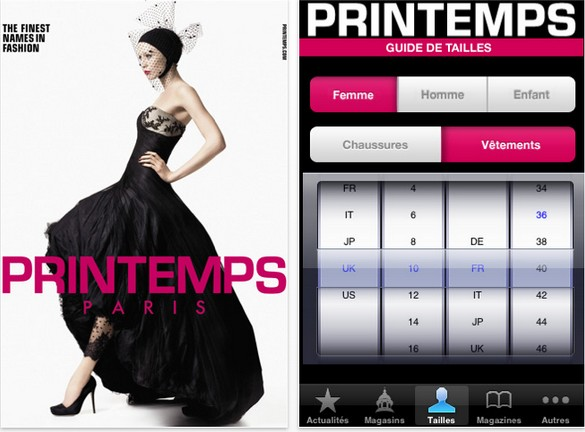 app iphone fashion galeries lafayette