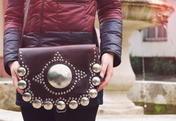 sac bag cuir leather piel bolsa sevilla seville handmade ethnic aztec_effected