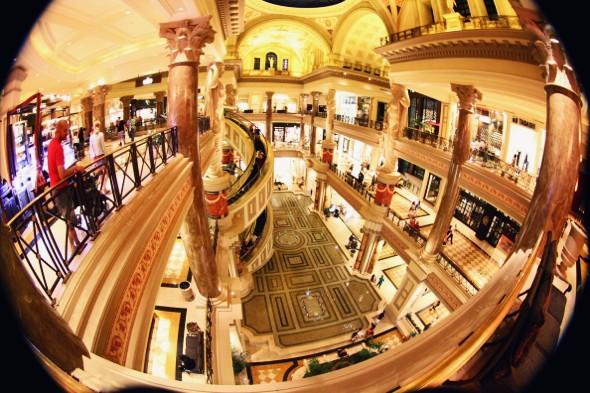las vegas caesars palace hotel shopping mall_effected