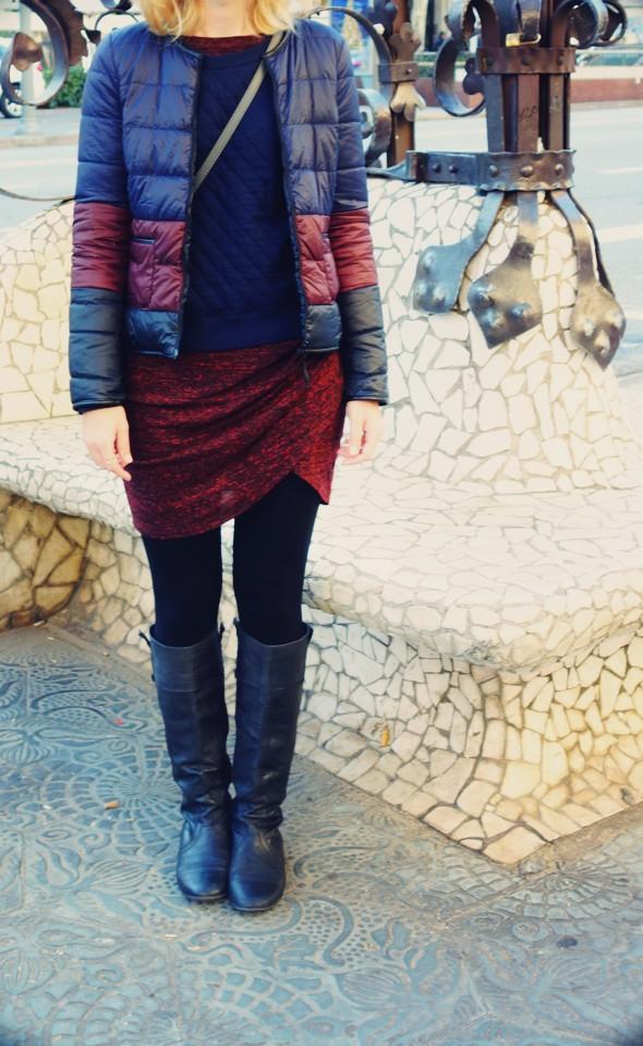 robe dress vestido zara wrapped drapée hiver winter 2013 trf trafaluc petit bateau sweater pull comptoir des cotonniers mademoiselle mlle plume doudoune_effected